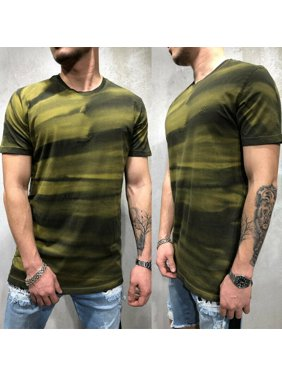 Fashion Men T Shirt Slim Fit Casual T-shirt Tops Summer Gym Bodybuilding Muscle Tee