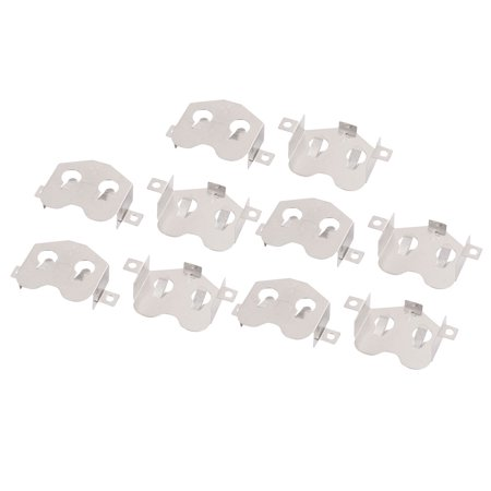 Copper Silver Plating (10Pcs Silver Tone Metal CR2477 Copper Nickel Plating Button Coin Battery Plate)