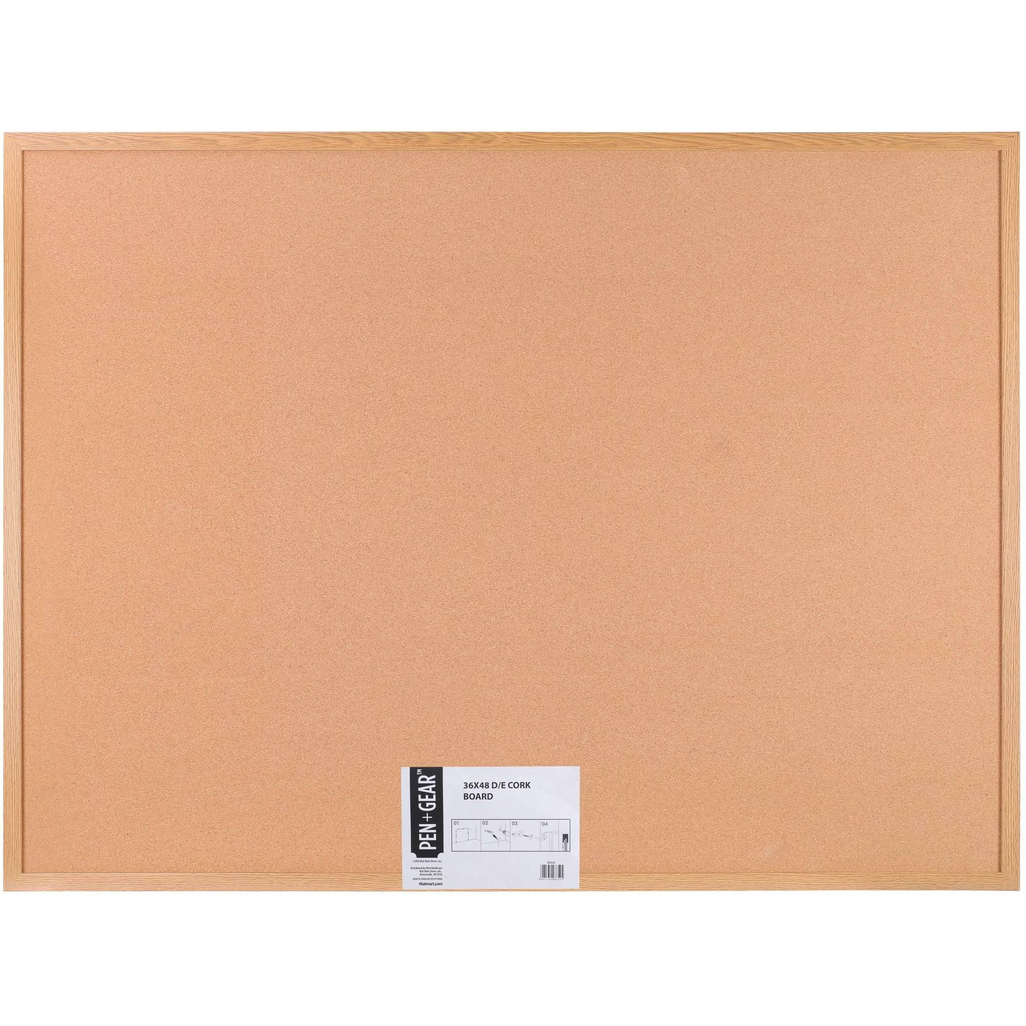 Pen Gear Cork Bulletin Board 48 X 36 Wood Frame Walmart Com