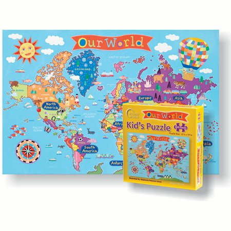 WORLD JIGSAW  PUZZLE FOR KIDS - Jigsaw Puzzles For Kids