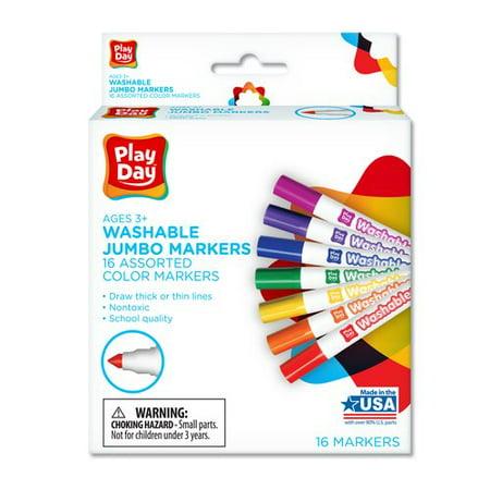 Playday Washable Jumbo Markers - Jumbo Ring Markers