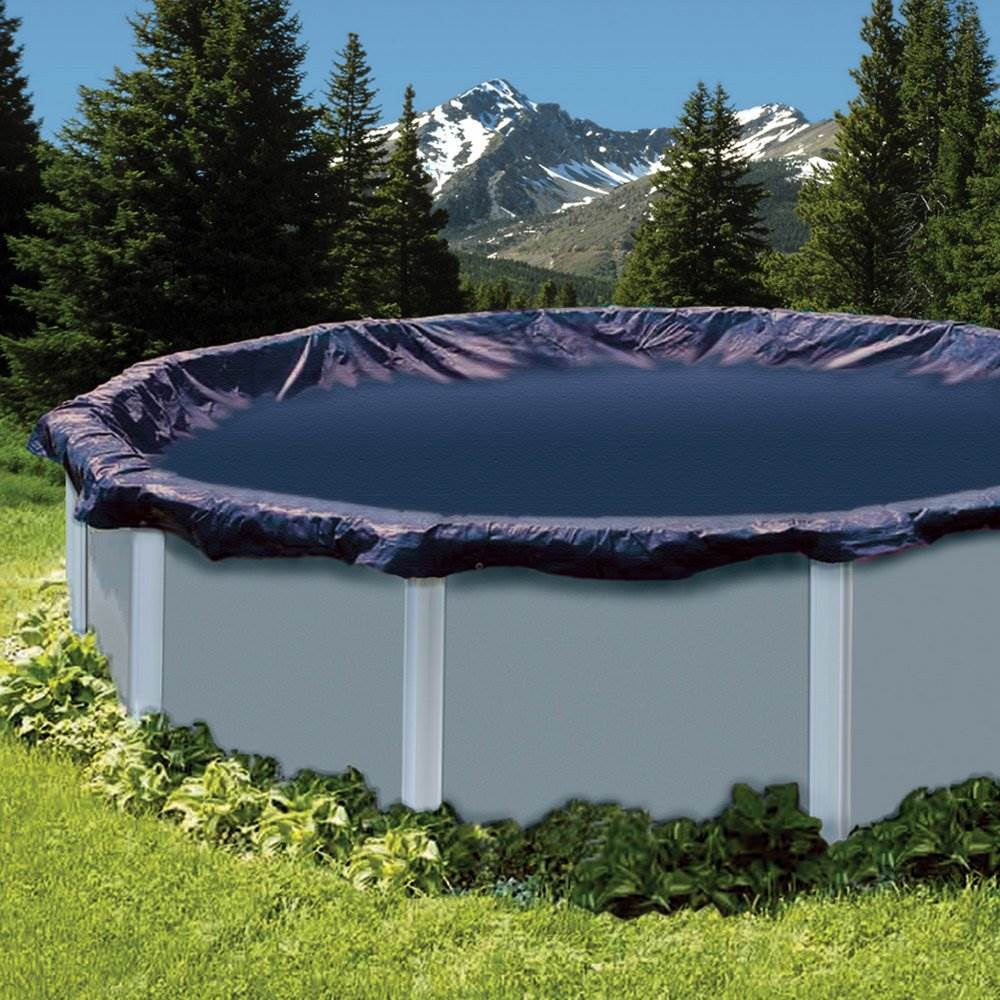 Swimline 24 Ft Round Above Ground Swimming Pool Winter Cover Blue 3 Pack