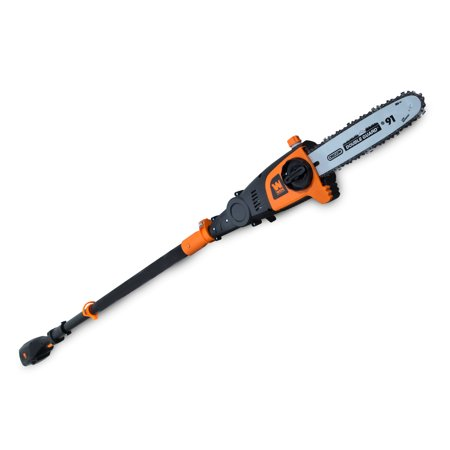 WEN 40V Max Lithium Ion 10-Inch Cordless and Brushless Pole Saw with 2Ah Battery and