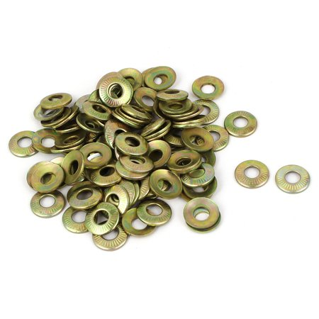 Unique Bargains M5 Metal Industrial Serrated Lock Conical Spring Washer 100 Pcs - image 1 of 1