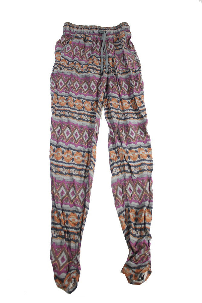 Rewash Juniors/' Tribal Printed Jogger Pants Orange Multi Color