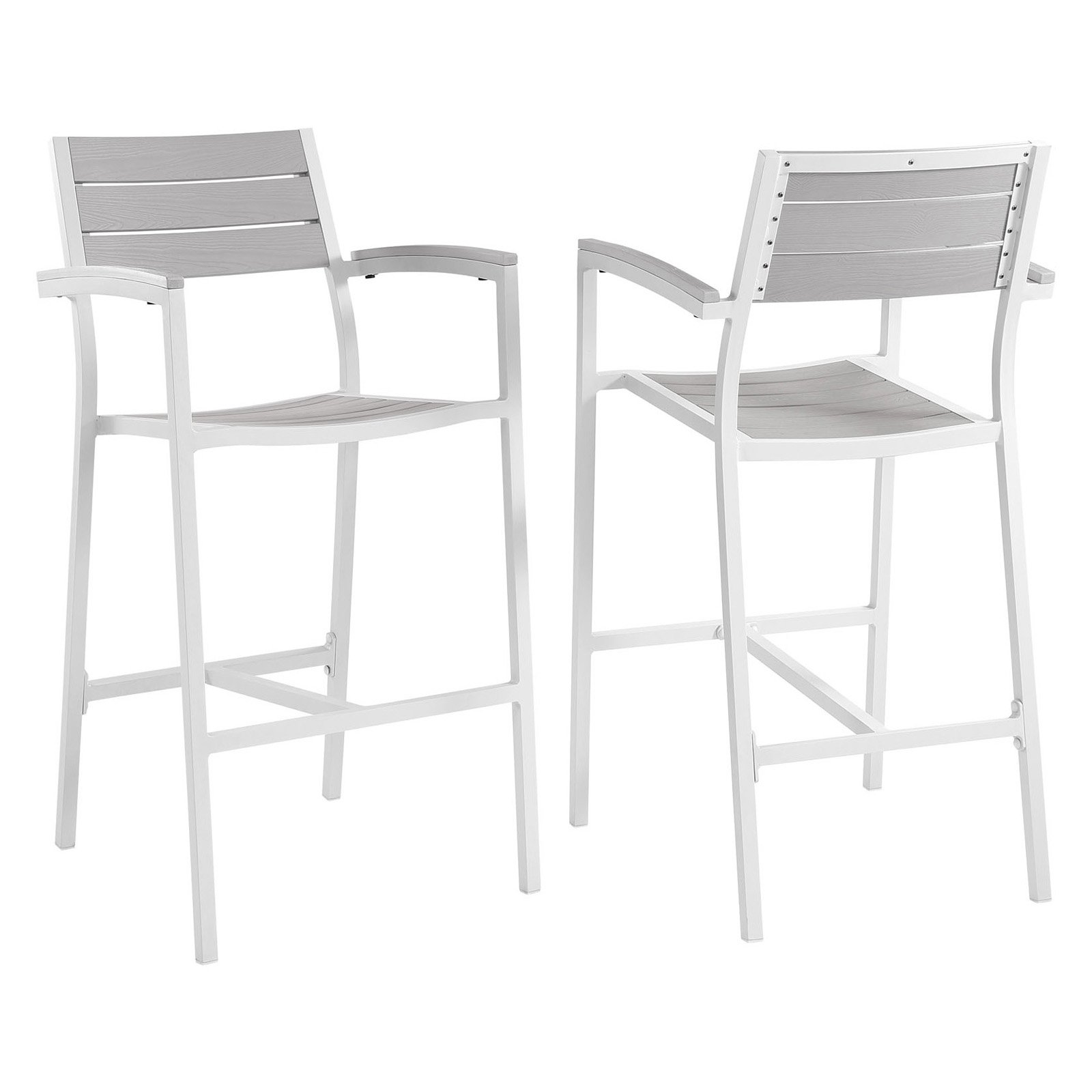 Modway Maine Bar Stool Outdoor Patio, Set of 2, Multiple Colors by Modway