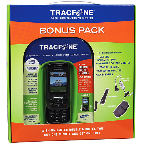 Tracfone Samsung T301g Prepaid Slider Cell Phone With