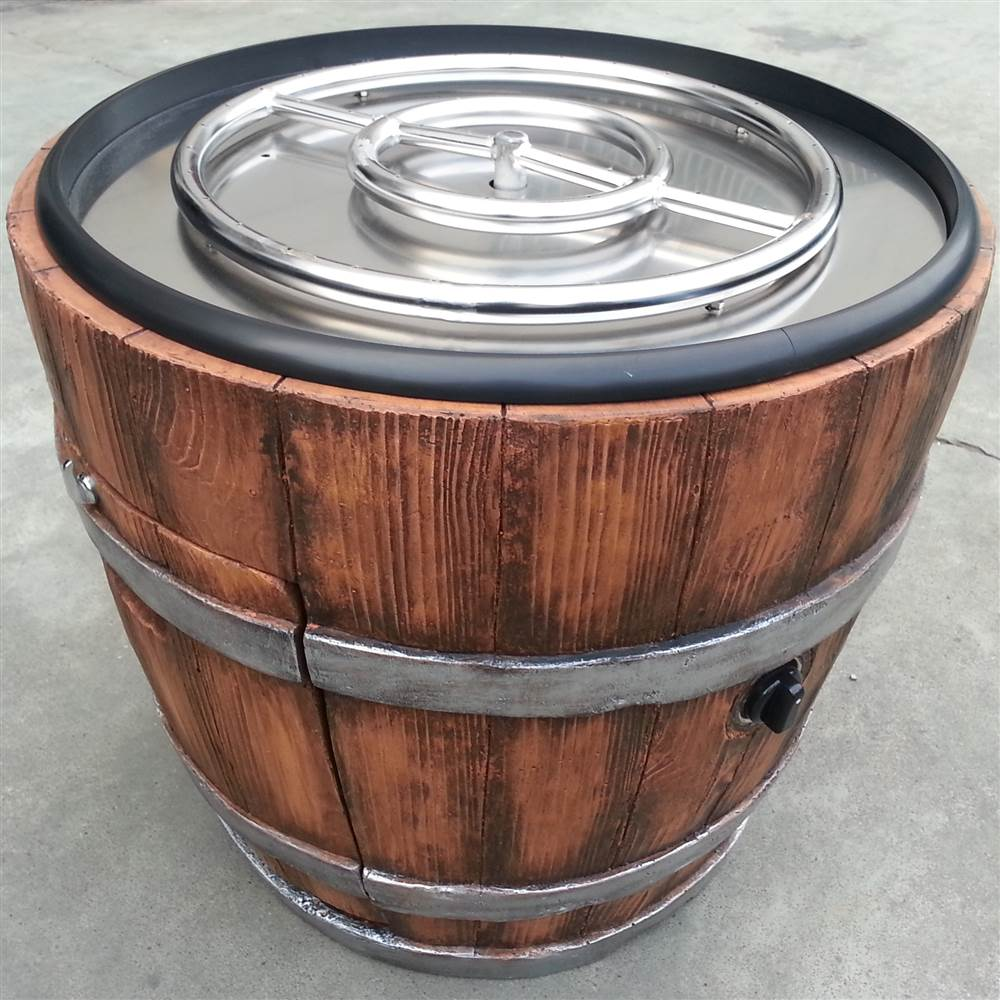 Wine Barrel Chat Fire Pit