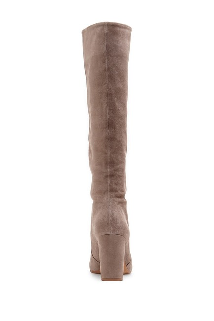 Vince Camuto Womens Sessily Slouchy Chunky Heel Suede Boot FOXY