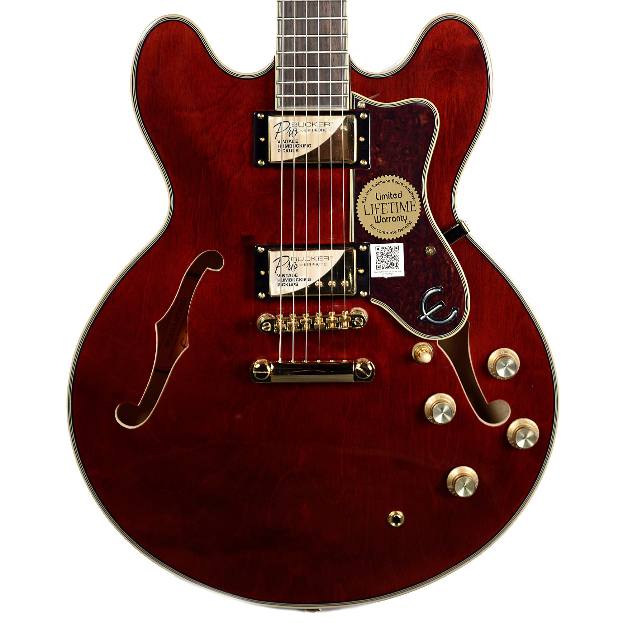 Epiphone Sheraton-II PRO Semi-Hollow Body Electric Guitar (Wine Red) by Epiphone
