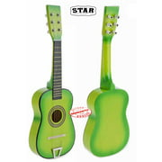 Star Kids Acoustic Toy Guitar 23 Inches Color Light Green
