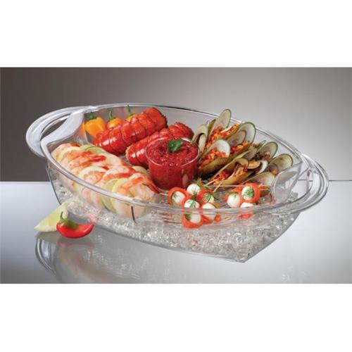 Prodyne Buffet on Ice 4 Compartment Vented Food Tray - AB7