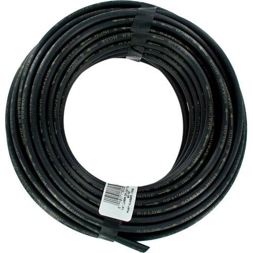 Raindrip 018005P 1/4 in X 50' Black Laser Drilled Soaker Hose Tubing