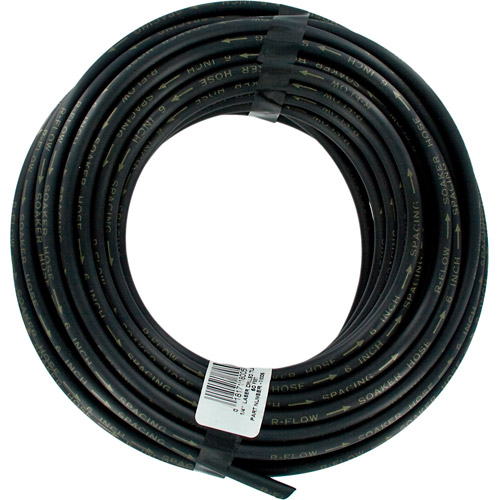 Raindrip 018005P 1/4 in X 50' Black Laser Drilled Soaker Hose Tubing