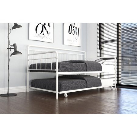 DHP Wallace Metal Daybed with Trundle, Twin, Multiple Colors ()