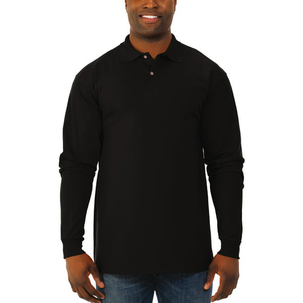 Jerzees Men's Spotshield Long Sleeve Polo Shirt