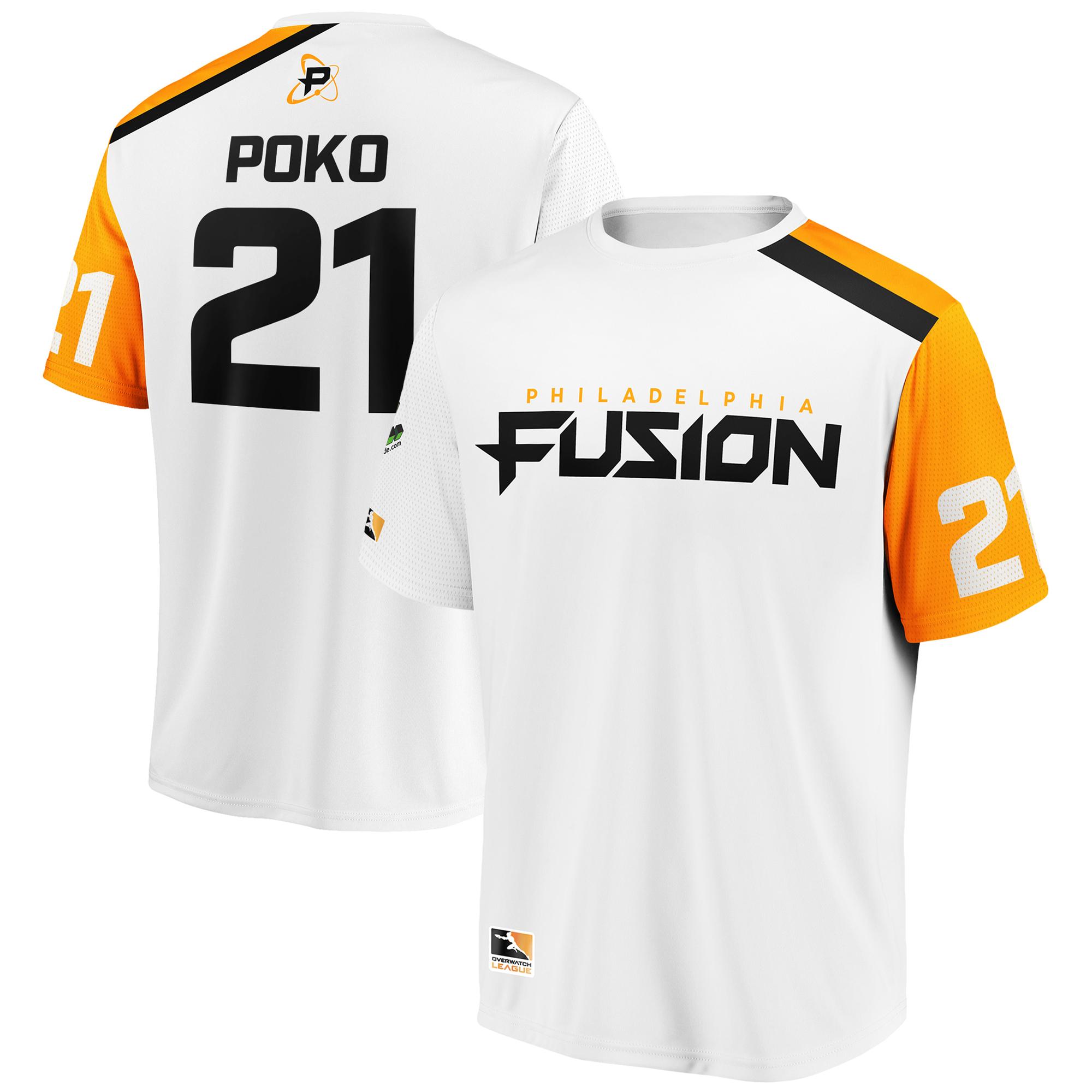 Poko Philadelphia Fusion Overwatch League Replica Away Jersey - White