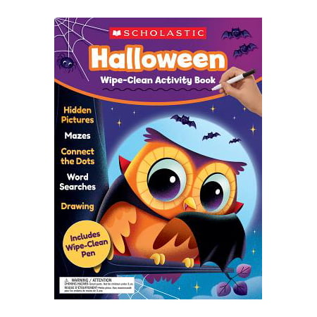 Halloween Wipe-Clean Activity Book - Halloween Printable Art Activities