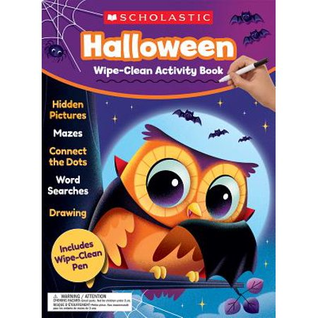 Halloween Wipe-Clean Activity Book - Rainy Day Halloween Activities