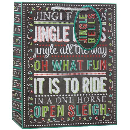 Boulder Chalk Bag - Jillson & Roberts Medium Gift Bags, Christmas Chalk (12 Pcs)