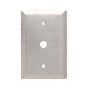 Pass Seymour SSO Communication Wall Plate Jumbo 1 Gang Brushed Smooth3