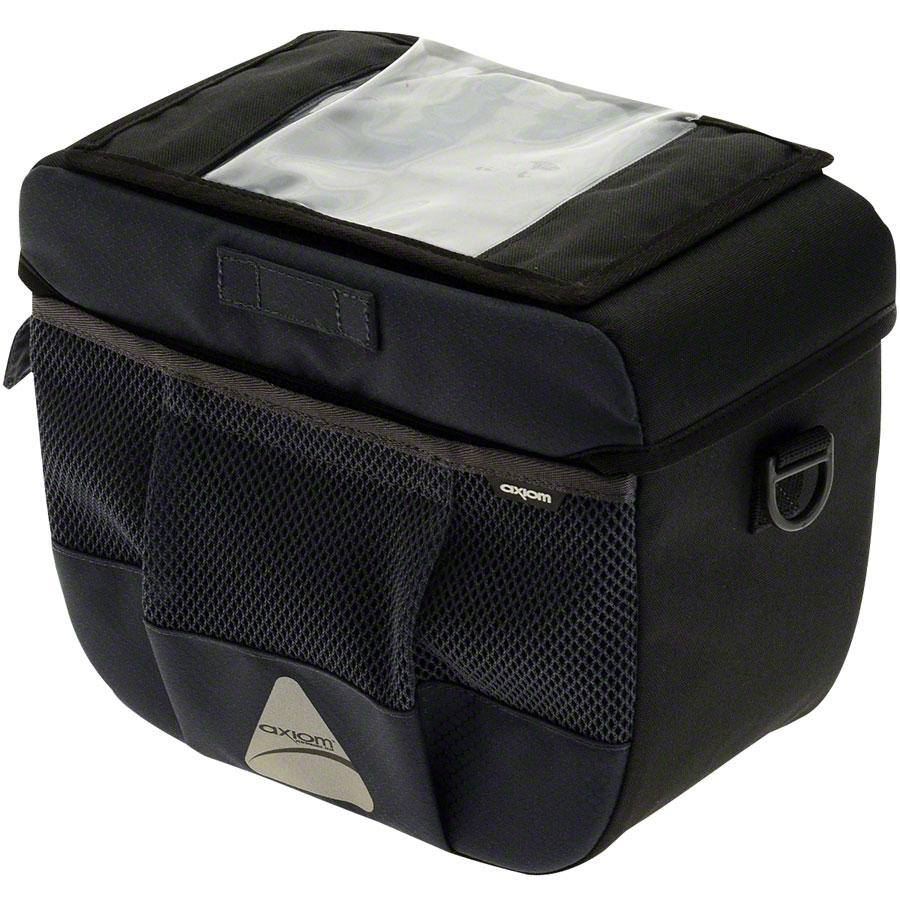 Axiom Barkeep DLX 9 Handlebar Bag: Black/Gray