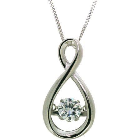 believe by brilliance sterling silver cz infinity pendant