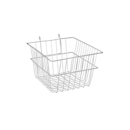 Chrome Mini Wire Grid Basket for Wire Grid - 12''L x 12''W x 8