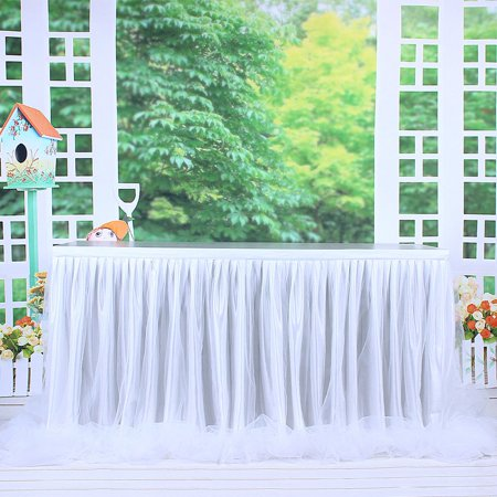 Mesh Gauze Table Skirt Tulle Table Yarn Skirt Wedding Celebration Supplies - image 5 of 9