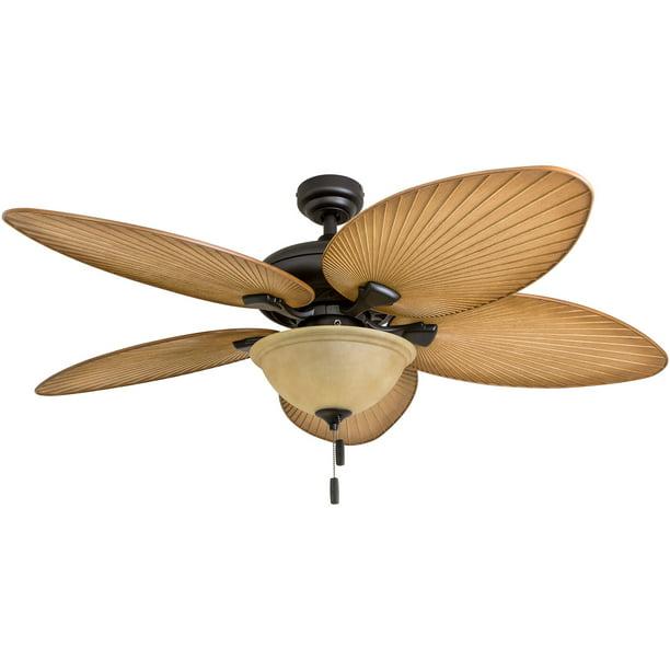Honeywell Palm Valley 52 Bronze Tropical Led Ceiling Fan With Light Palm Leaf Blades Walmart Com Walmart Com