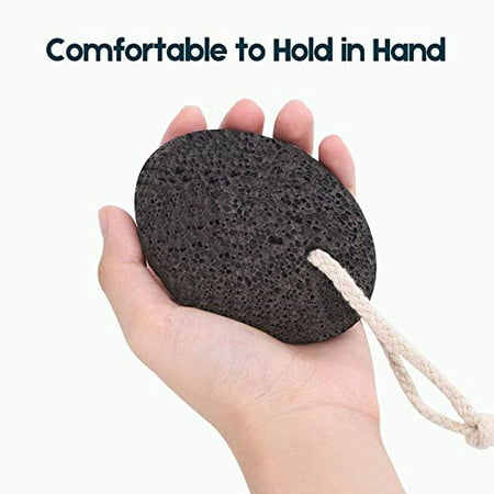 Image of Natural Lava Exfoliating Pumice Stone Callus Remover for Feet, Exfoliation to Remove Dead Skin for Foot, Heel, Toes, Dry Dead Skin Scrubber Corn Remover Natural Foot File Massage Spa