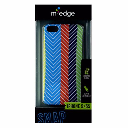 - M-Edge Snap Case for Apple iPhone 5/5S - Color Stripes