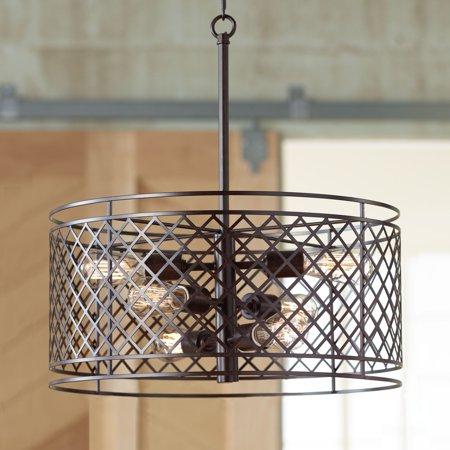 Franklin Iron Works Lattice 6-Light 20 1/4