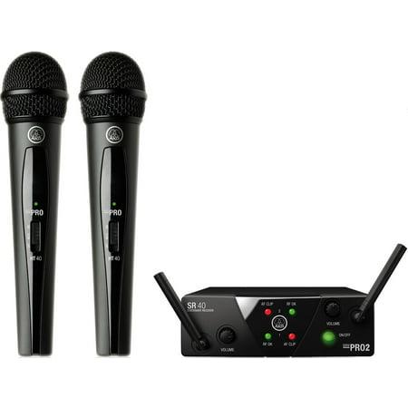 AKG WMS40 Mini2 Dual Wireless Vocal Set Wireless Mic (Akg Wms 40 Mini Vocal Wireless System Review)