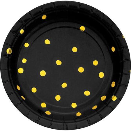 """Black Velvet 7"""" Dia. Foil Luncheon Plate, Case of 96"""