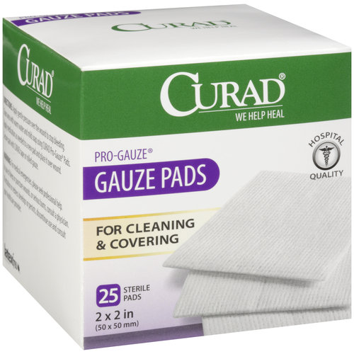 "Curad Pro-Gauze Sterile Pads, 2"" x, 2"", 25ct"