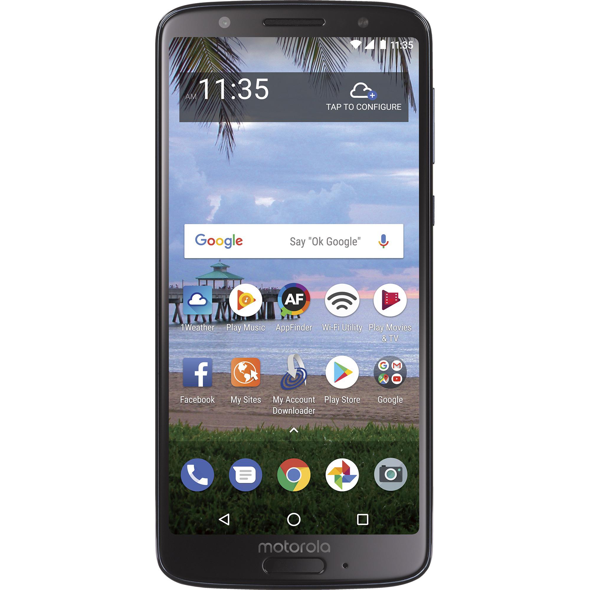 "Motorola MOTO G6 5.7"" 32GB 4G LTE Prepaid Android Smartphone"