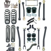 """NEW CURRIE JOHNNY JOINT 4"""" LIFT SUSPENSION KIT,ARMS,COIL SPRINGS,FITS 07-18 JEEP JK 4DOOR, CE-9807SP"""