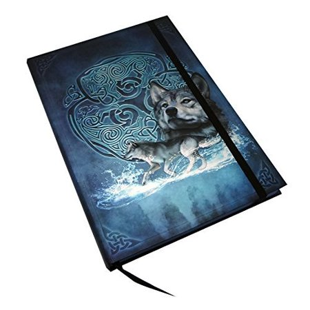 Beautiful Fantasy Celtic Writing Drawing Plain Journal Dairy Notebook with Strip 6