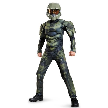 Halo: Master Chief Muscle Child Costume (Childs Halo Costume)