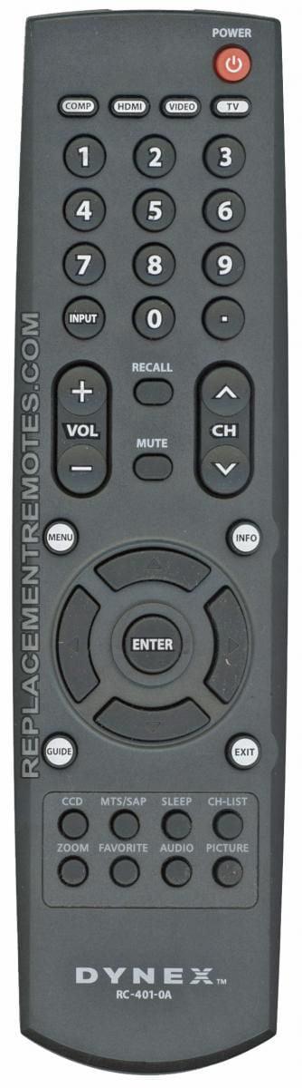 Dynex Rc 401 0a P N 6010400101 Tv Remote Control New Walmart Com Walmart Com