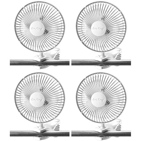 Air King 6 Inch Commercial 120V Personal Clip On Fan Air Circulator (4 Pack)