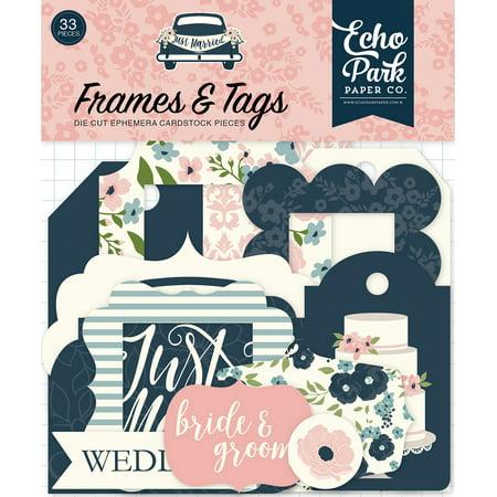 Just Married Cardstock Die-Cuts 33/Pkg-Frames & Tags