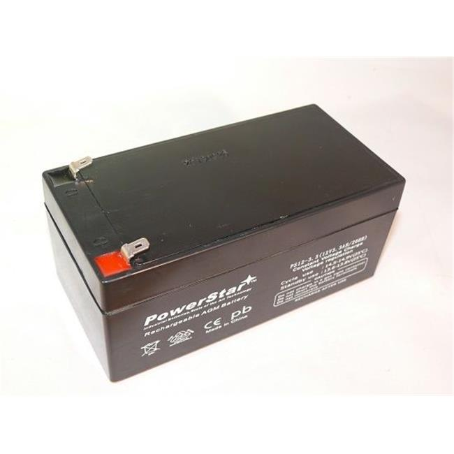 PowerStar PS12-3.3-250 High Rate 12V, 3Ah Battery 12V, PS-1230 Replaces Power-Sonic