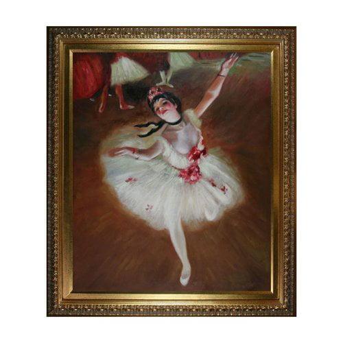 Overstock Art DG1118-FR-7870G20X24 Edgar Degas - Star Dancer (On Stage) Framed Art