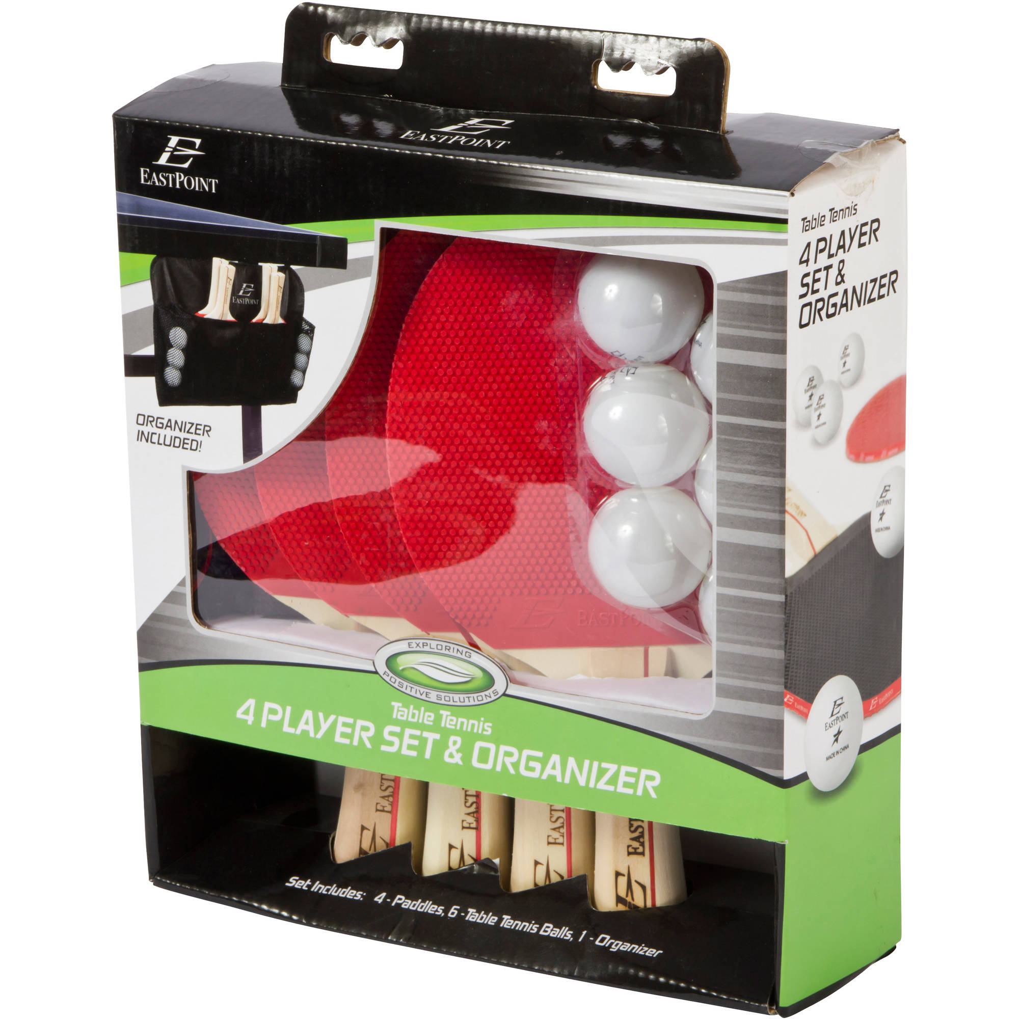 EastPoint Sports 4 Player Paddle And Ball Set With Organizer   Walmart.com