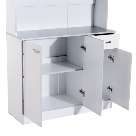 """71"""" Buffet Server Microwave Storage Cabinet Hutch- White - image 2 of 7"""
