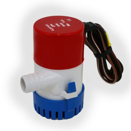 Auto Marine 1100 Gph Bilge 12V Pump 2 5 Amp Submersible 1 1 8   28Mm  Connector