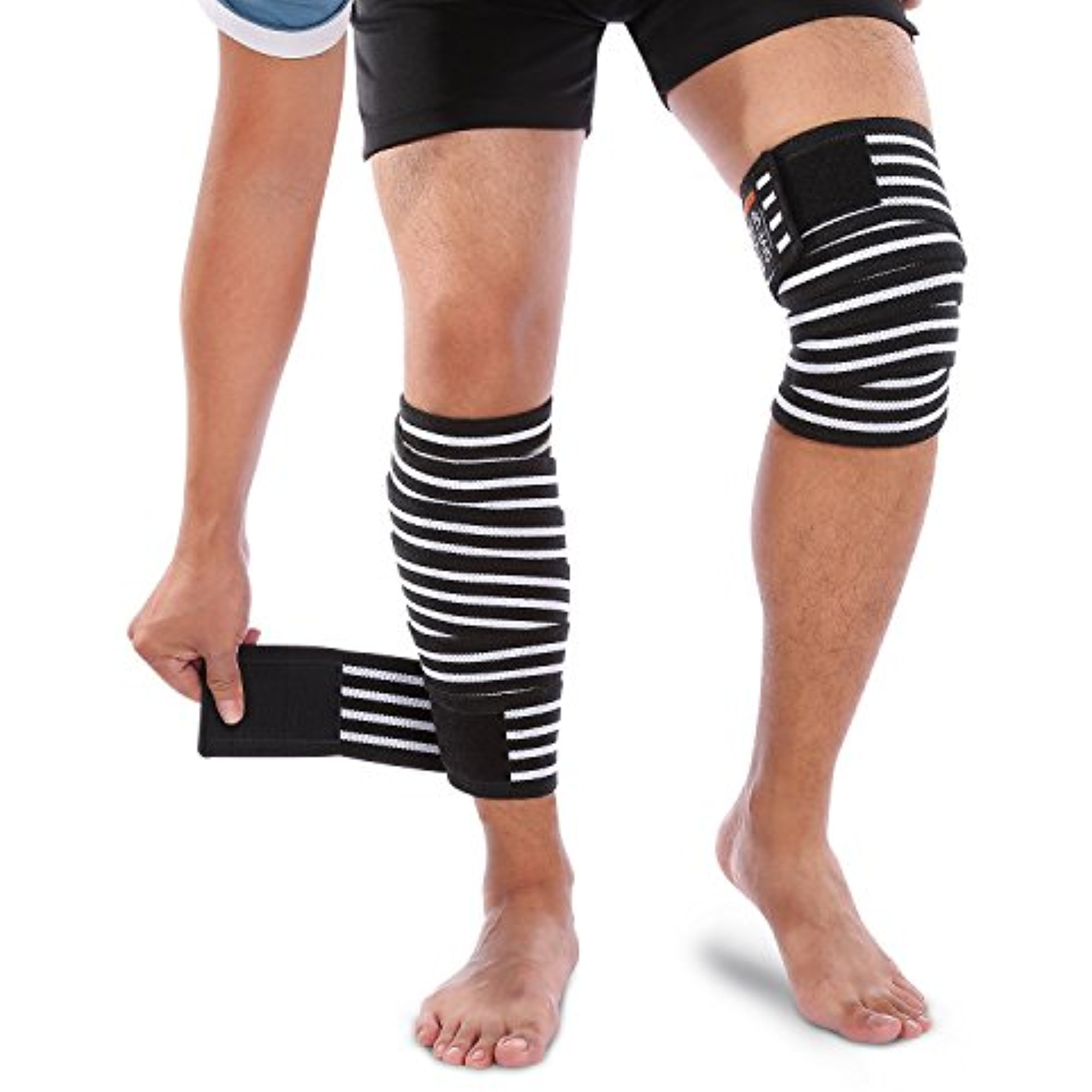 Yosoo Knee Wraps Calf Compression Knee Sleeve Thigh Adjustable Wrap Leg Elastic Support Brace for Women Men