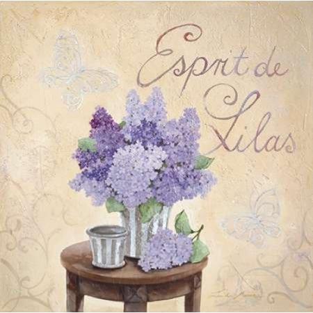 Esprit De Lilas Poster Print by Linda Moore